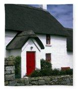 Red Door Thatched Roof Fleece Blanket