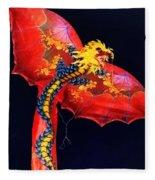 Red Dragon Kite Fleece Blanket