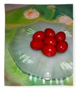 Red Eggs And Daisies Fleece Blanket