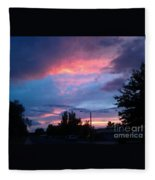 Red Evening Arizona Sky Fleece Blanket