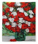 Red Explosion Fleece Blanket