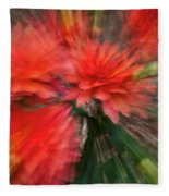 Red Explosion Fleece Blanket