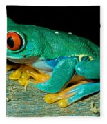 Red Eye Tree Frog Fleece Blanket