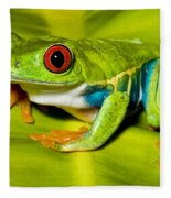 Red-eyed Treefrog Fleece Blanket