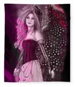 Red Fairy Fleece Blanket