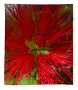 Red Fairy Duster Calliandra Californica Fleece Blanket