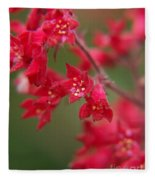 Red Fairy Trumpets Fleece Blanket