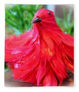 Red Feathers Fleece Blanket