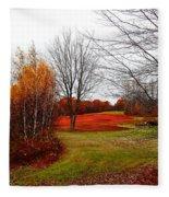 Red Field Autumn Fleece Blanket