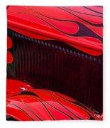 Red Flames Hot Rod Fleece Blanket