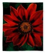 Red Flower Fleece Blanket