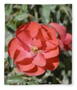 Red Flower II Fleece Blanket