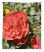 Red Flower IIi Fleece Blanket