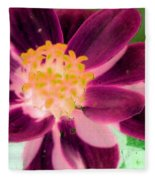 Red Flower - Photopower 256 Fleece Blanket