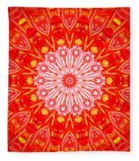 Red Flower Fleece Blanket