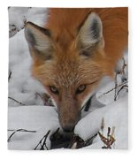 Red Fox Upclose Fleece Blanket