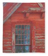 Red Gable Window Fleece Blanket