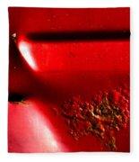 Red Gash Fleece Blanket