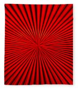 Red Glass Abstract 1 Fleece Blanket