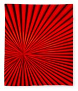 Red Glass Abstract 3 Fleece Blanket