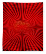 Red Glass Abstract 4 Fleece Blanket