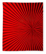Red Glass Abstract 5 Fleece Blanket