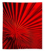 Red Glass Abstract 6 Fleece Blanket