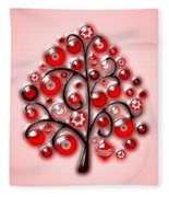 Red Glass Ornaments Fleece Blanket