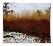 Red Gold Hedge Fleece Blanket