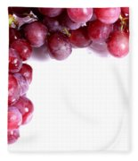 Red Grapes With White Copy Space Fleece Blanket