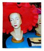 Red Hats Fleece Blanket