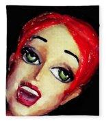 Red Head Around Corner Fleece Blanket