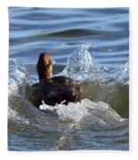 Red Head Duck Resurfaces With A Splash Fleece Blanket