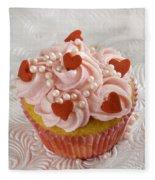 Valentine Cupcakes  Fleece Blanket