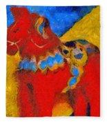 Red Horse Fleece Blanket