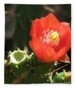Hot Red Cactus Fleece Blanket