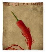 Red Hot Chili Pepper Poster  Fleece Blanket