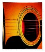 Red Hot Guitar Fleece Blanket