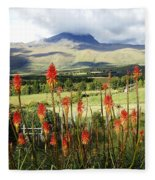 Red Hot Pokers Of The Andes Fleece Blanket