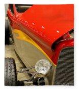 Street Car - Red Hot Rod Fleece Blanket