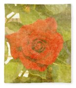 Red Hot Rose Fleece Blanket