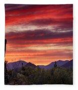Red Hot Sonoran Sunset Fleece Blanket