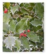 Red In Winter Fleece Blanket