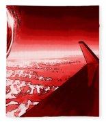 Red Jet Pop Art Plane Fleece Blanket