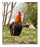 Red Jungle Fowl - Moa Fleece Blanket