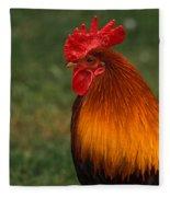 Red Jungle-fowl Fleece Blanket