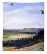 Red Kites At Coombe Hill Fleece Blanket
