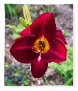 Red Lady Lily 2 Fleece Blanket