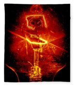 Red Light Abstract Fleece Blanket