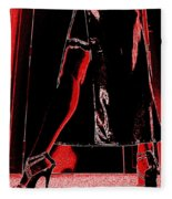 Red Light Black Dress Fleece Blanket